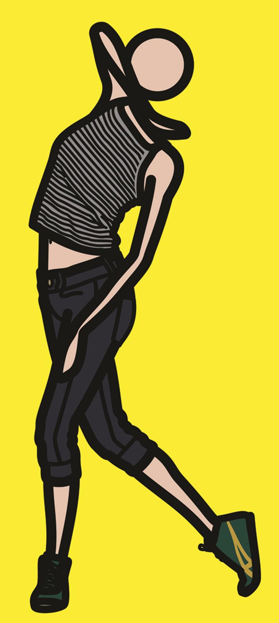 'Caterina Dancing in Stripy Top'