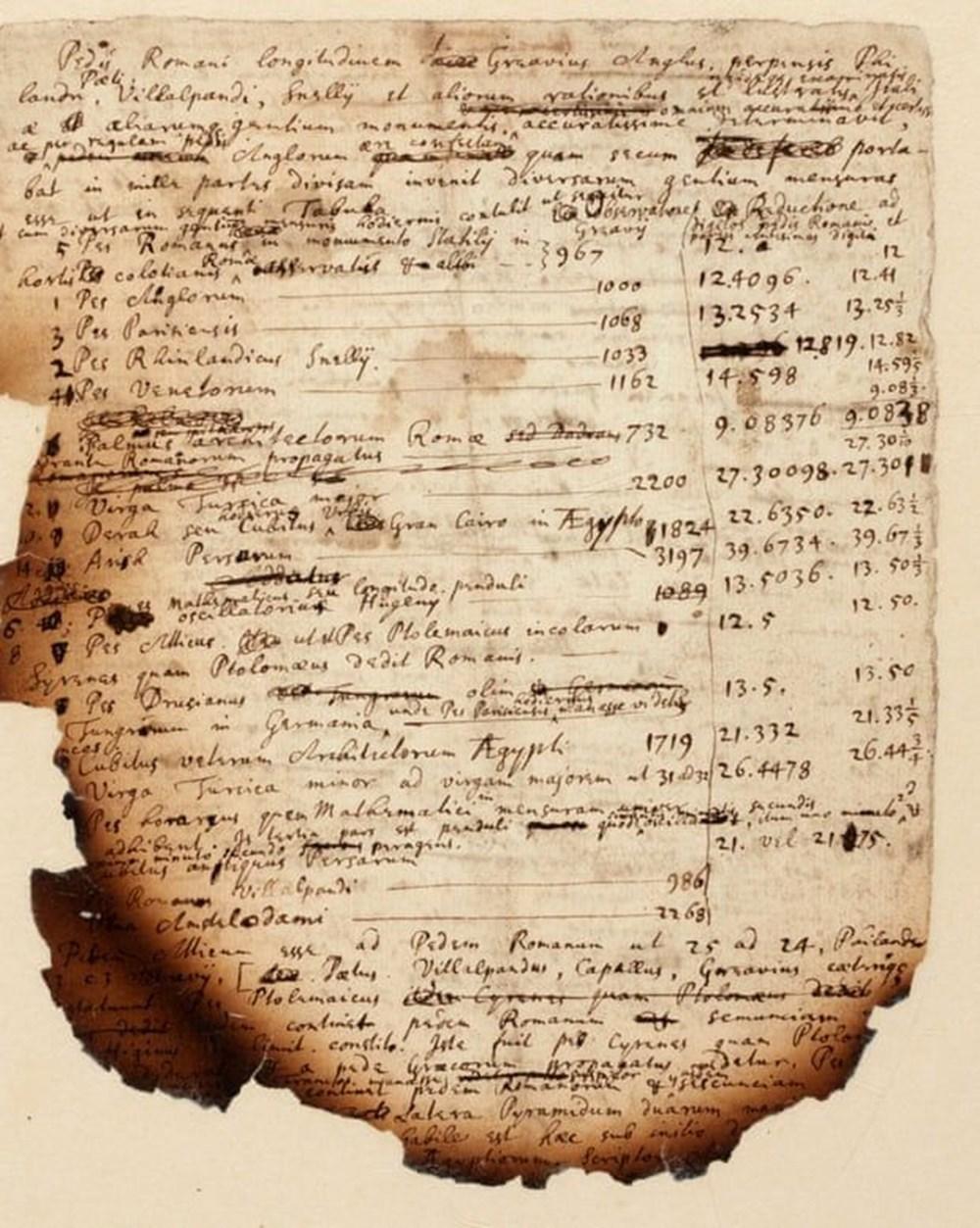 Newton'un Mısır piramitlerini inceleyerek kıyametin tarihini hesapladığı notlar ortaya çıktı - 3