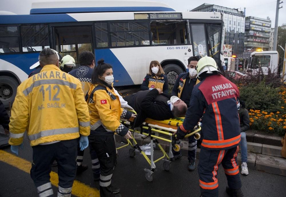 Ankara'da iki otobüs çarpıştı: 17 yaralı - 10