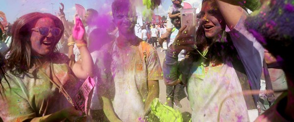 İstanbul'da 'renkli koşu' festivali