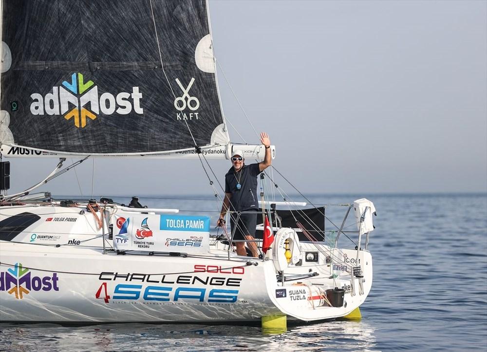 Yelkenci Tolga Pamir, rekor için Türkiye'nin 4 denizini boydan boya geziyor - 8