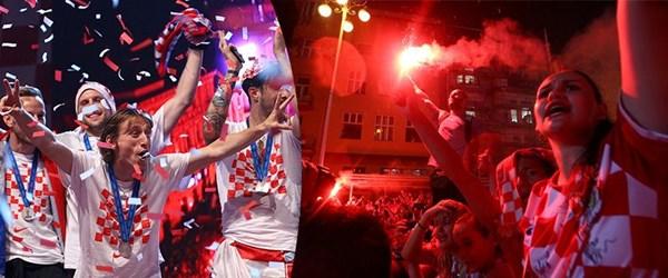 Hırvatistan Milli Takımı kahramanlar gibi karşılandı