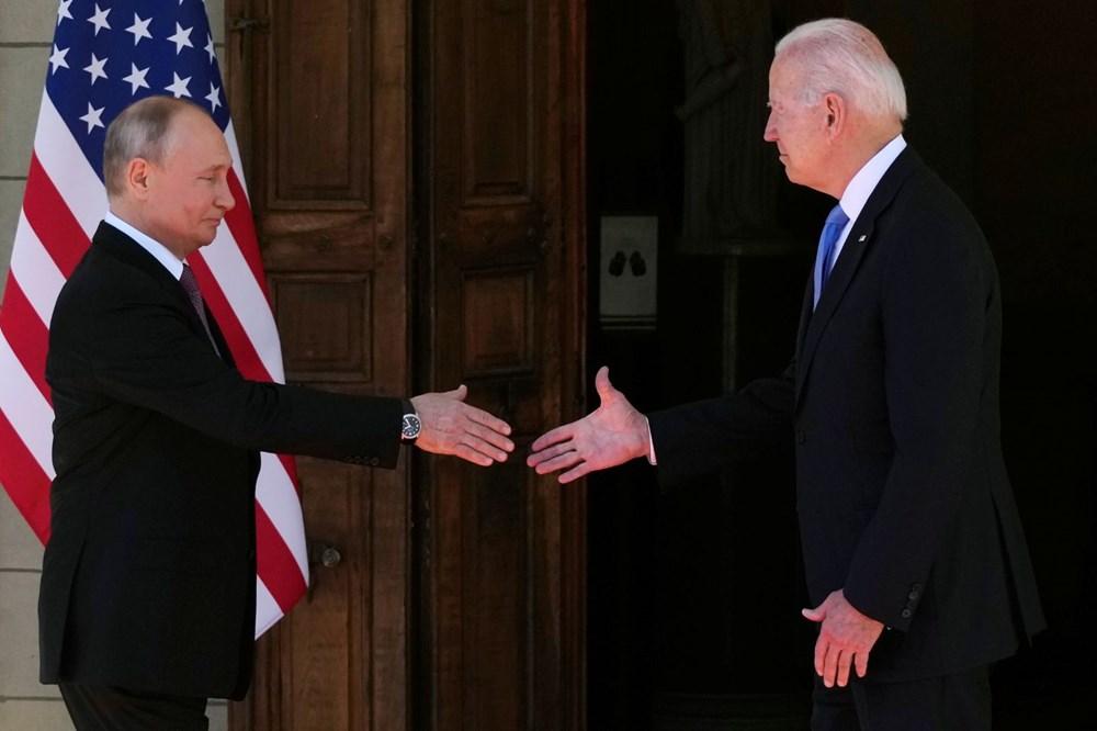 ABD Başkanı Biden ve Rus Devlet Başkanı Putin'in görüşmesi başladı: Zirveden kareler - 5