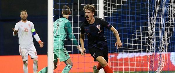 Hırvatistan, İspanya'yı 90+3'te devirdi