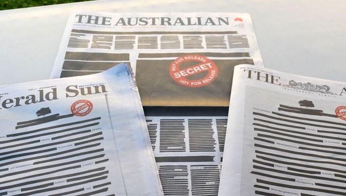 Avustralya'da gazetelerden sansür tepkisi