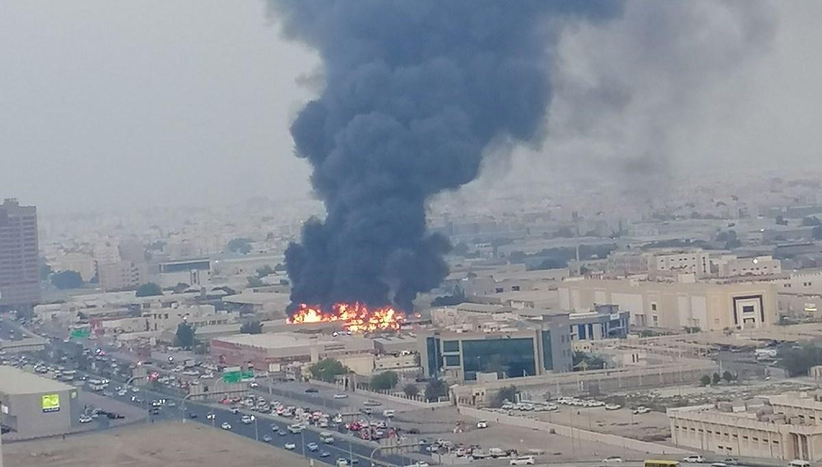 BAE'de halk pazarında yangın