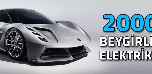 2000 Beygirlik tam elektrikli hiper otomobil: Lotus Evija