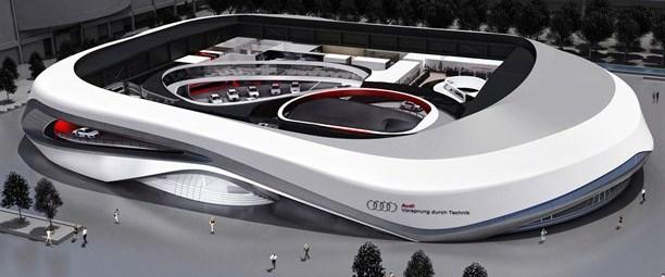 Audi'nin devasa Frankfurt standı