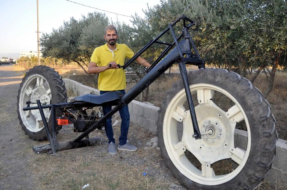 4 5 metrelik traktor tekerli motosiklet
