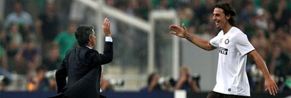 Mourinho ile Zlatan Ibrahimovic İtalya'da Inter takımından birlikte çalışmışlardı.