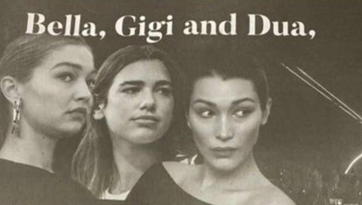 New York Times'tan Bella Hadid, Gigi Hadid ve Dua Lipa için tepki çeken ilan
