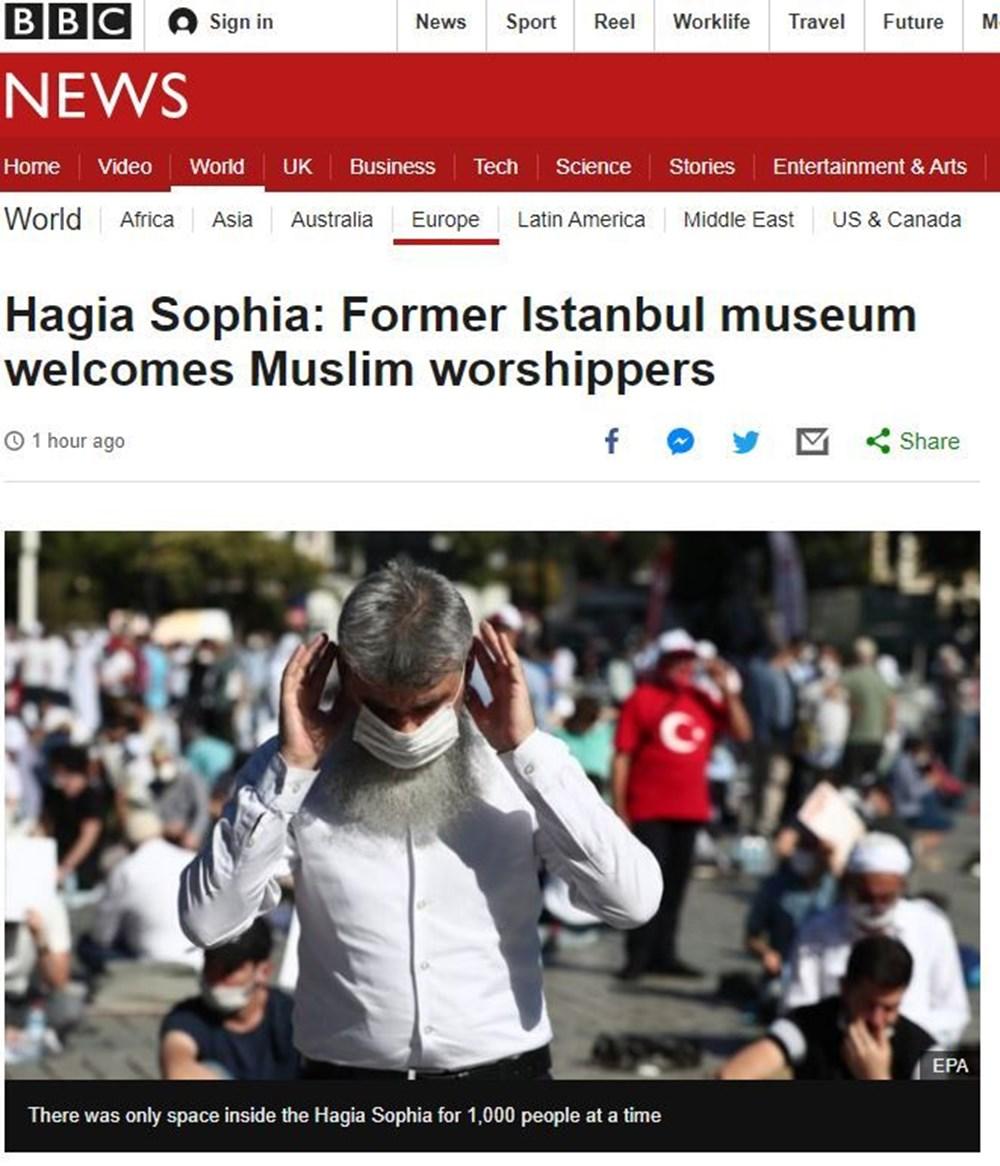 86 yıl sonra ibadete açılan Ayasofya Camii dünya basınında - 5