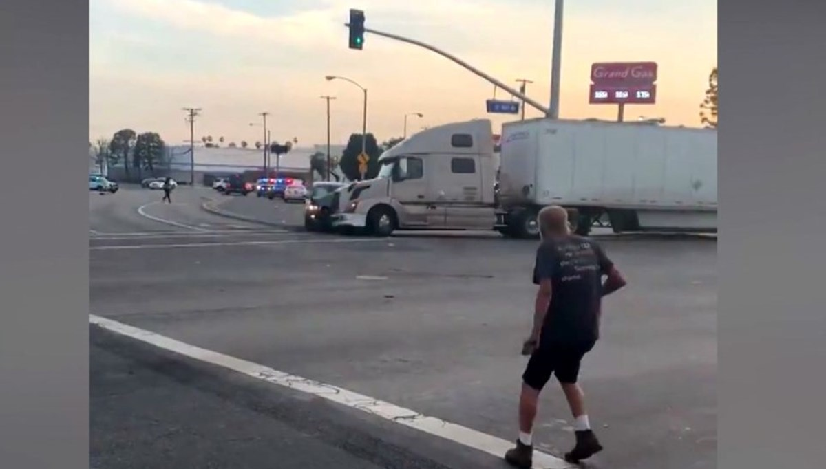 Fleeing suspect caught by truck driver