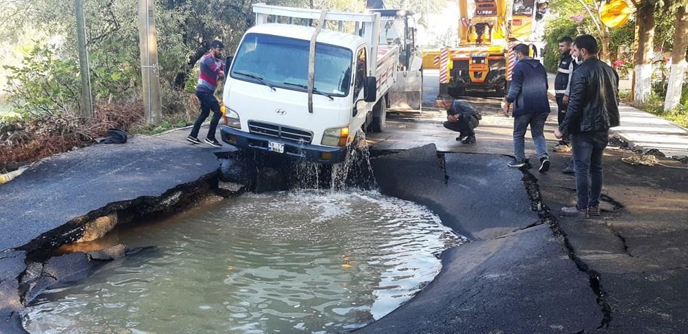 Patlayan asfalta kamyonet düştü: Canımızı son anda kurtardık - 4