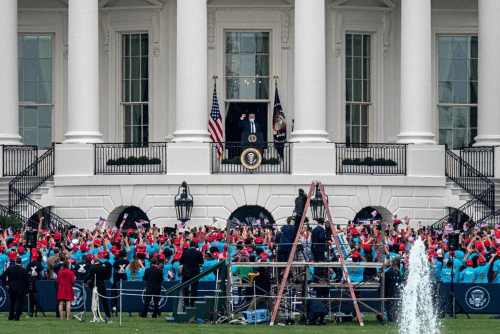 Trump Beyaz Saray'dan halka seslendi - 5