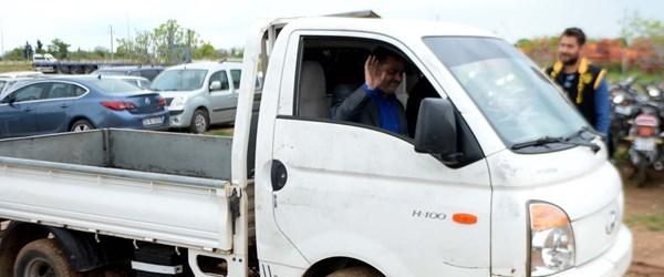 İstanbul'da 5 yıl önce çalınan kamyonet, Suriye'de bulundu