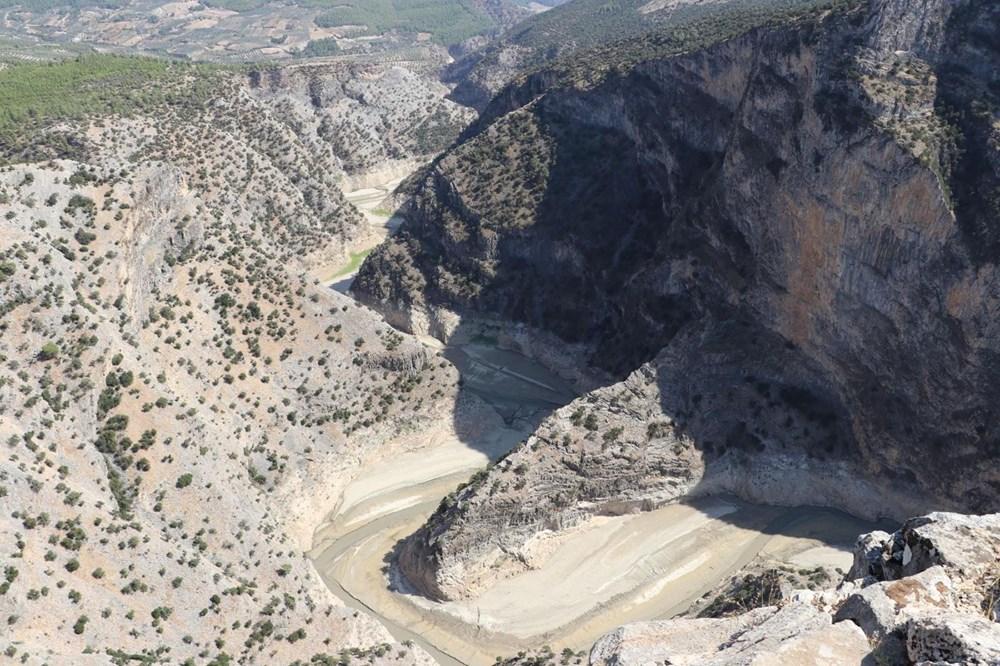 Doğa harikası İnceğiz Kanyonu'nun suyu çekildi - 2