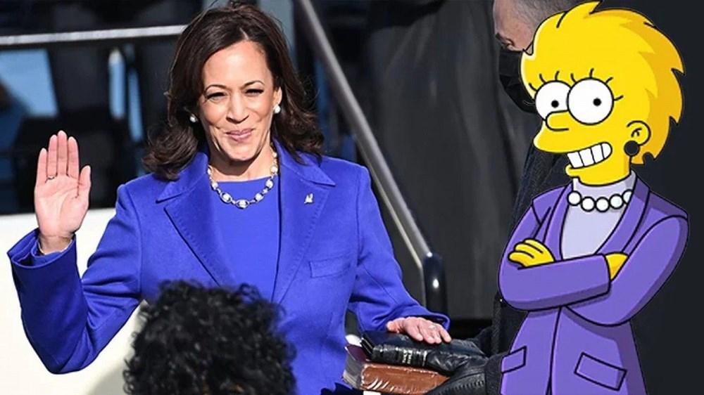 Simpsonlar'ın (The Simpsons) kehaneti yine tuttu: Biden ve Harris'in yemin törenini 20 yıl önceden bildiler - 2
