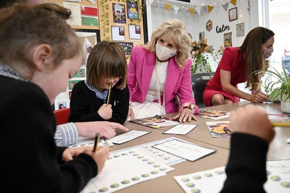 First Lady Jill Biden ve Cambridge Düşesi Kate Middleton buluştu: Birlikte okul ziyareti - 6