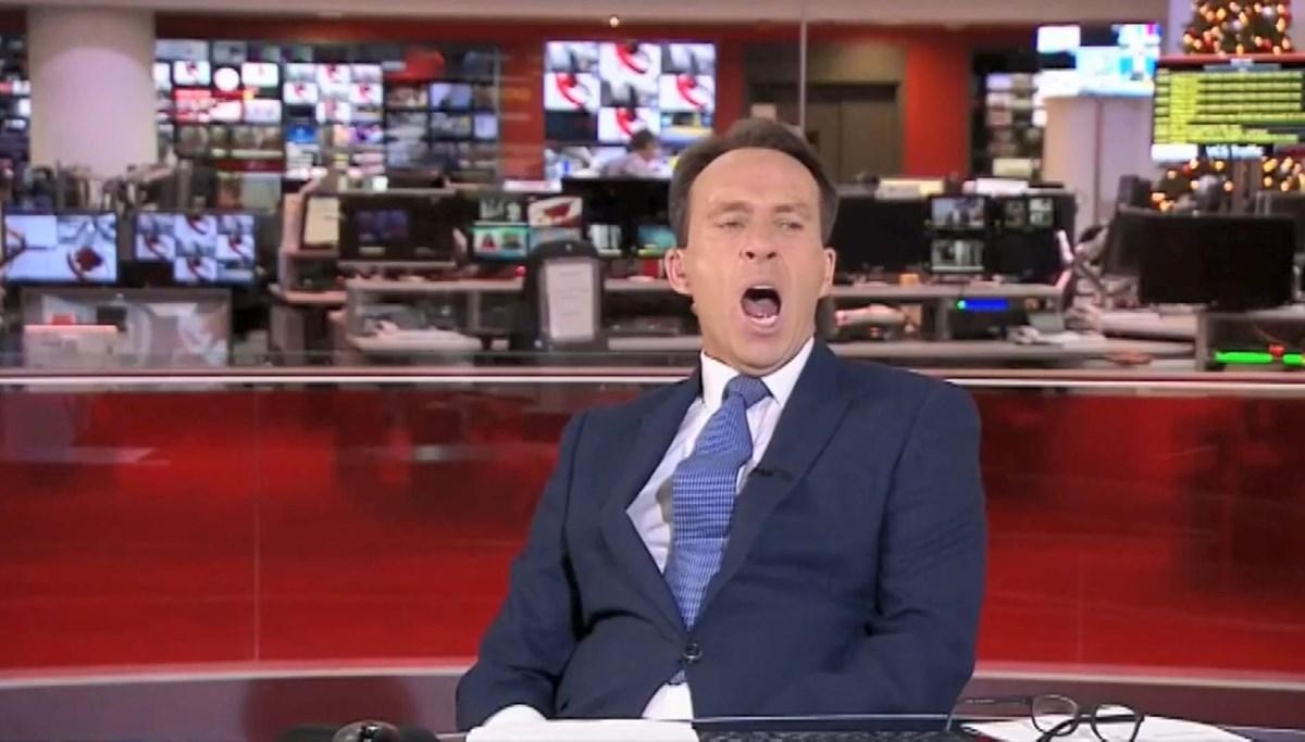 İngiliz spiker canlı yayında esnerken yakalandı