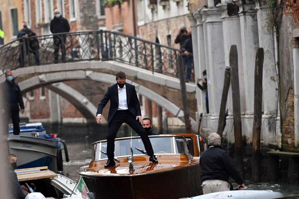 Tom Cruise Görevimiz Tehlike 7 filminin Venedik'teki setinde - 5