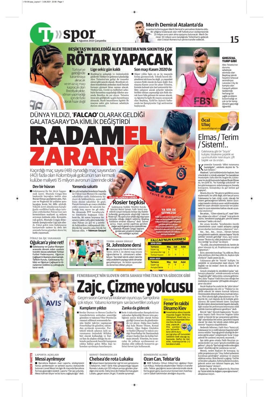 Günün spor manşetleri (4 Ağustos 2021) - 17