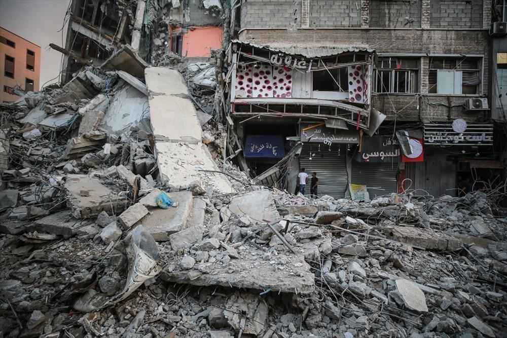 İsrail, Gazze'de sivillerin bulunduğu 14 katlı binayı vurdu - 28