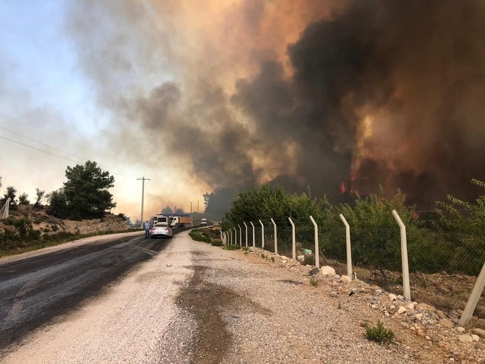 Antalya Manavgat'ta büyük orman yangını - 3