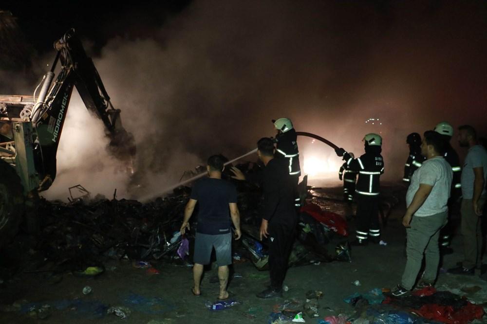 Samsun'da geri dönüşüm deposunda yangın - 7