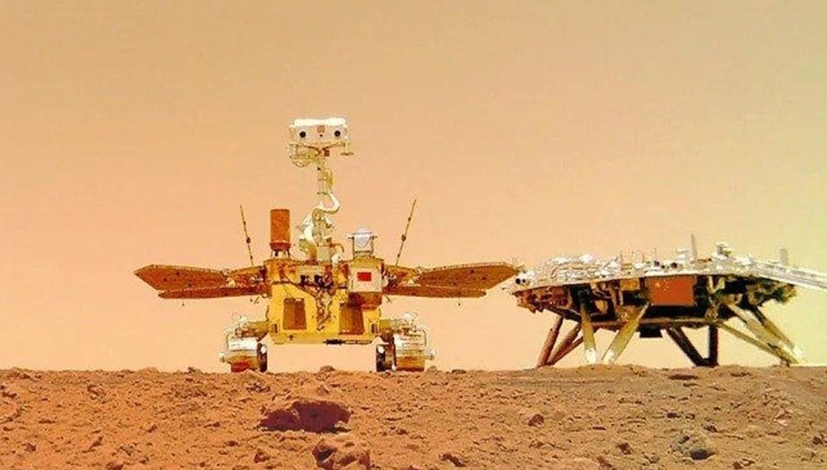 Uzay aracı Zhurong'un, Mars'tan gönderdiği videolar paylaşıldı