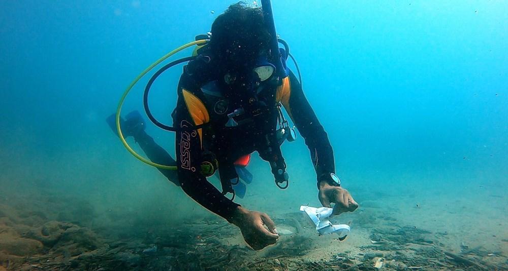 Deniz tabanı maske ve eldiven dolu - 9
