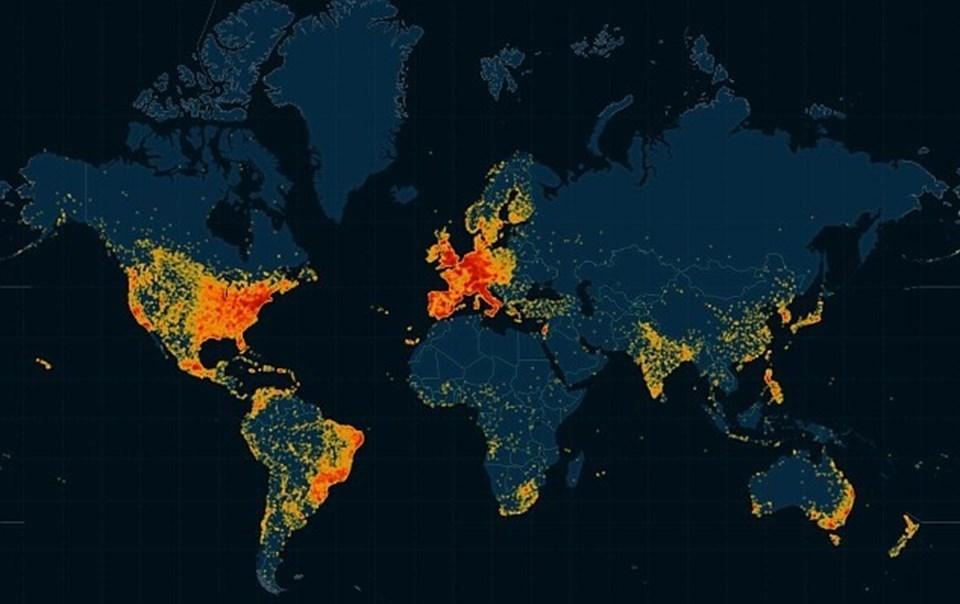 İnternette yayınlanan bilgilerin ardından sitenin kullanıcı haritası da belli olmuştu.