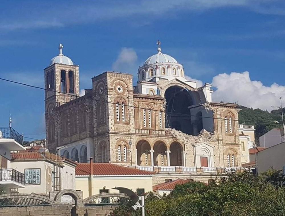 Depremin merkez üssü Yunan adası Sisam'dan ilk fotoğraflar - 4