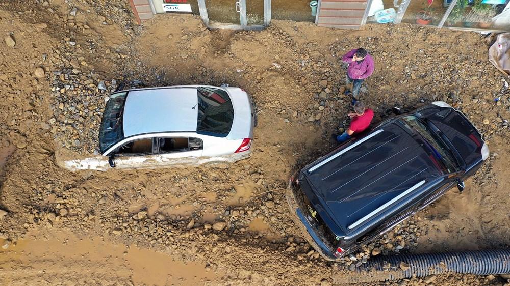 Rize'de sel ve heyelan afetinin hasarı gün ağarınca ortaya çıktı - 32