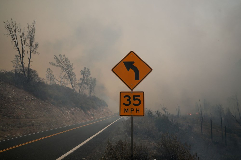 California'da 8 bin kilometrekare alan yandı, rekor kırıldı - 12
