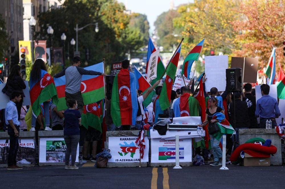 Beyaz Saray önünde Azerbaycan'a destek mitingi düzenlendi - 15
