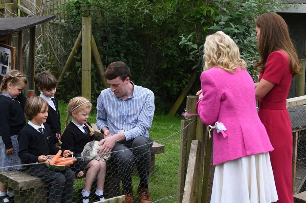 First Lady Jill Biden ve Cambridge Düşesi Kate Middleton buluştu: Birlikte okul ziyareti - 4