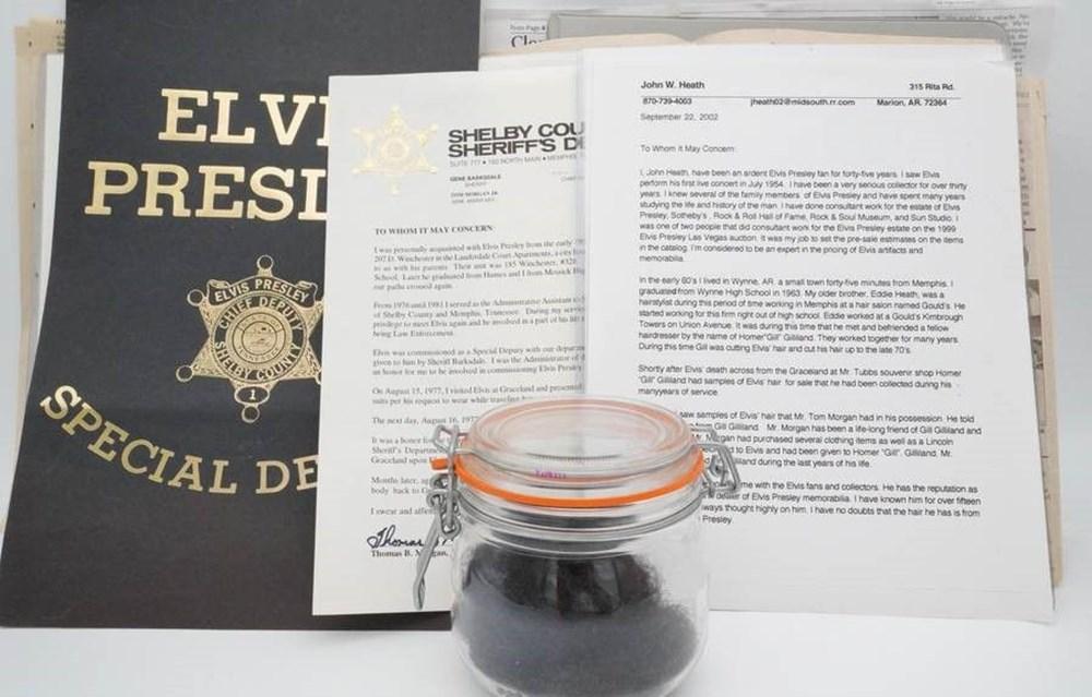 Rambut Elvis Presley dijual di lelang seharga 605 ribu lira - 4