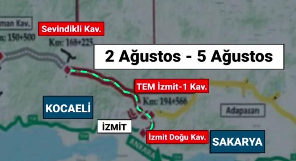 Ankara-İstanbul yönü açılacak bölüm.