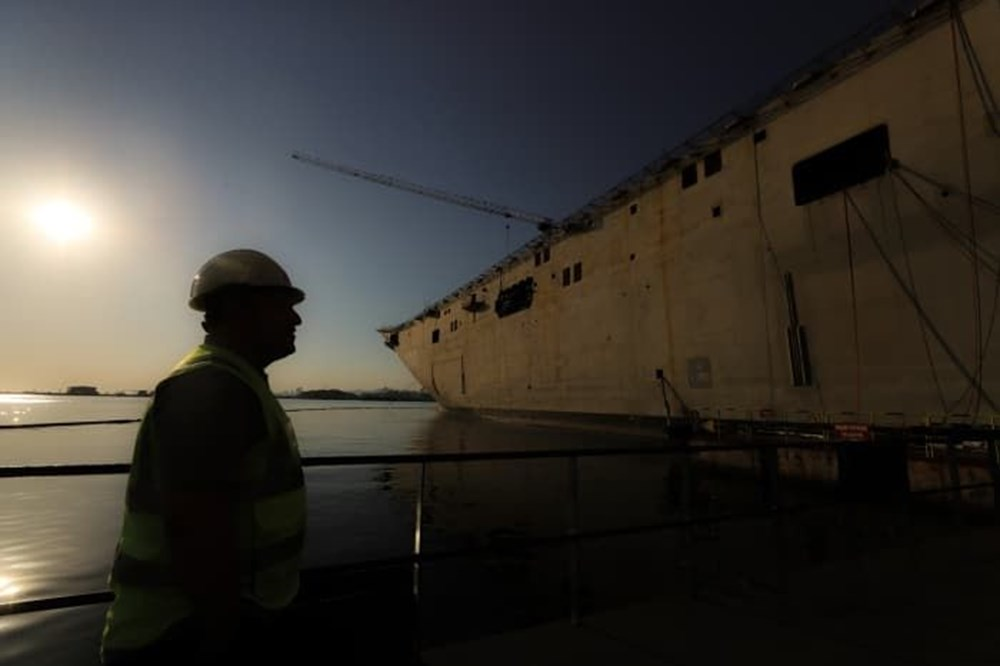 Türkiye'nin 'amiral gemisi'nde son durum görüntülendi (Türkiye'nin yeni nesil silahları) - 1