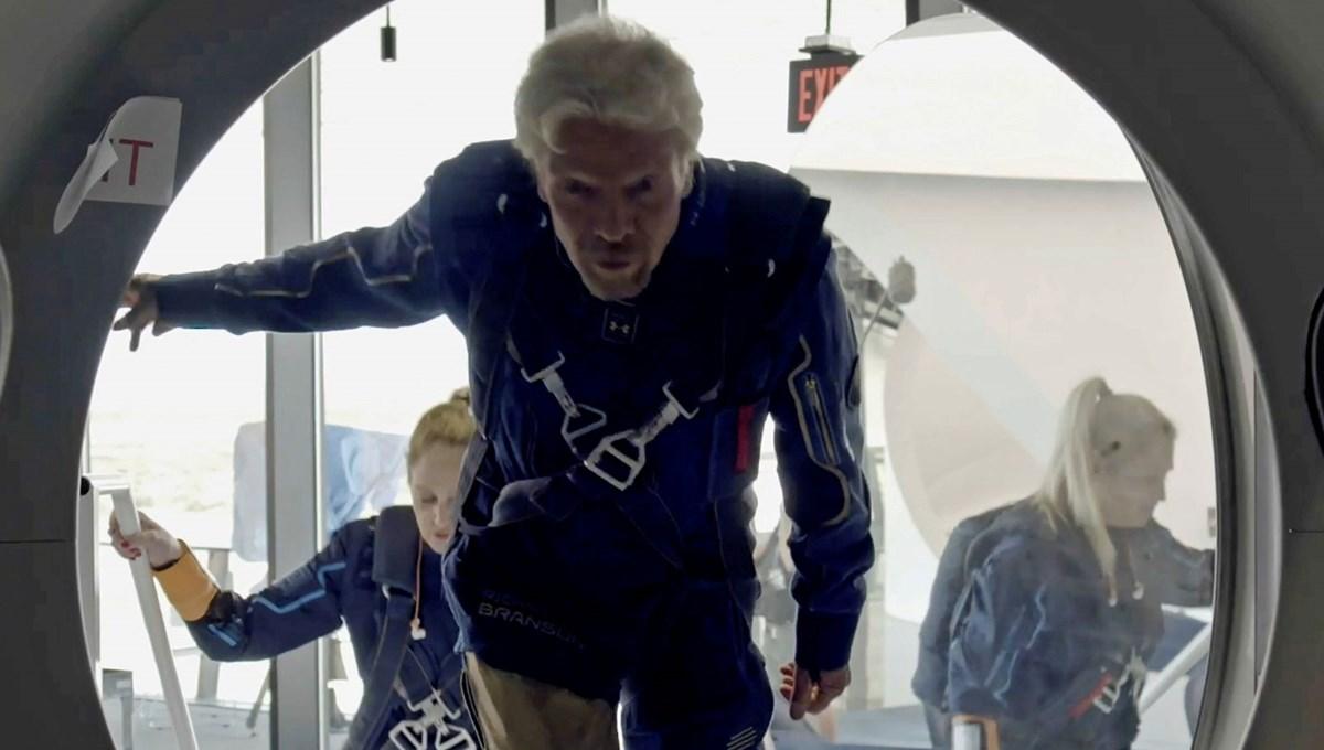 Branson uzaya giden ilk milyarder olmak üzere