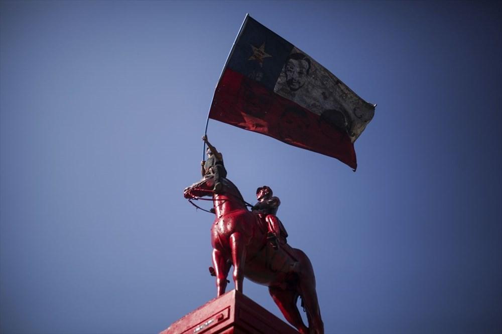 Şili'deki protestoların yıldönümü yaklaşırken sokaklarda tansiyon artıyor - 4
