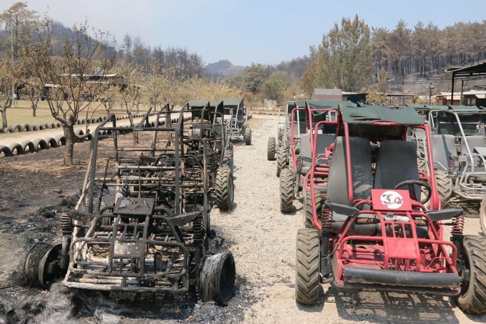 Manavgat'ta safari tesisi küle döndü, alevlerin arasında kalan işletme sahibi ölümden döndü - 8