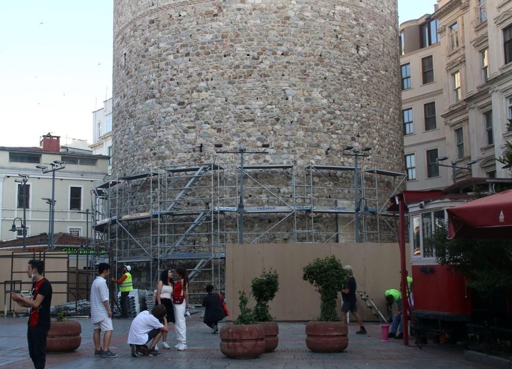 Galata Kulesi'nde restorasyon başladı - 11