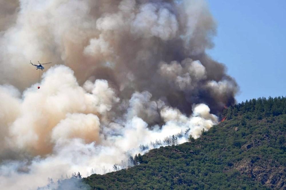 Marmaris'teki orman yangınından acı haber - 6