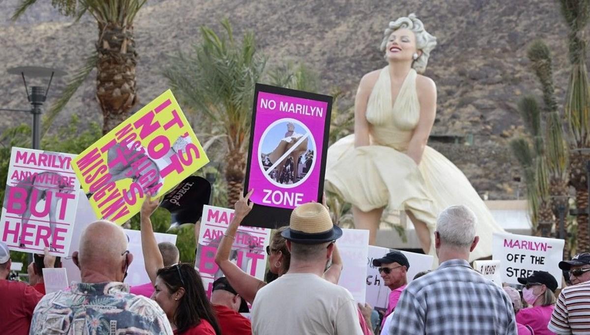 Tüm protestolara rağmen devasa ve cinsiyetçi Marilyn Monroe heykeli dikildi
