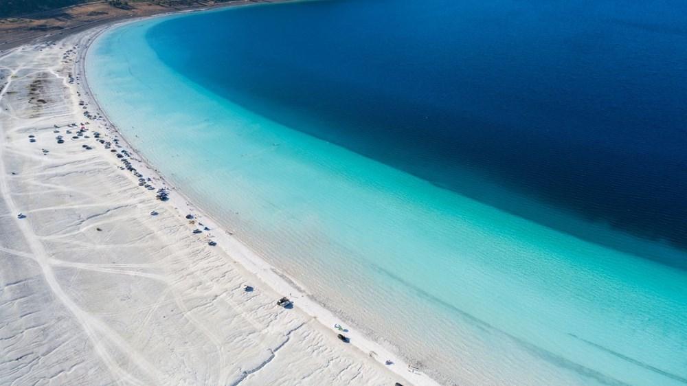 Bakan duyurdu: Salda'nın 'Beyaz Adalar' bölgesinde göle girilmesi yasaklanabilir - 1
