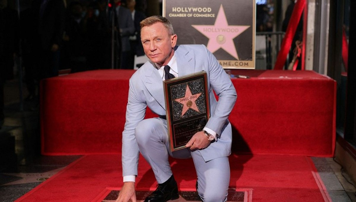 Daniel Craig'in de Hollywood Şöhretler Kaldırımı'nda yıldızı oldu