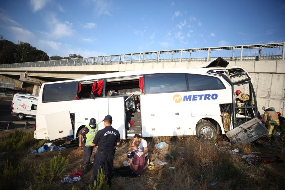Kuzey Marmara Otoyolu'nda otobüs yoldan çıktı: 5 ölü, 25 yaralı - 14