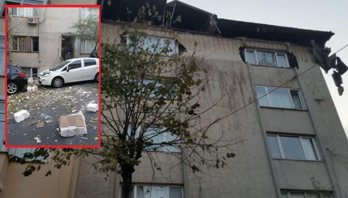 İstanbul Şişli'de çatısı çöken ev mühürlendi